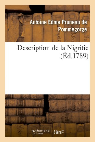 9782013378277: Description de la Nigritie
