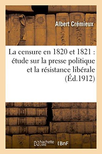 La censure en 1820 et 1821 : Albert Crémieux