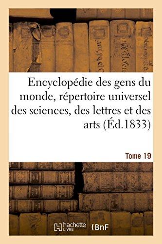 9782013598088: Encyclopédie des gens du monde. T. 19.2