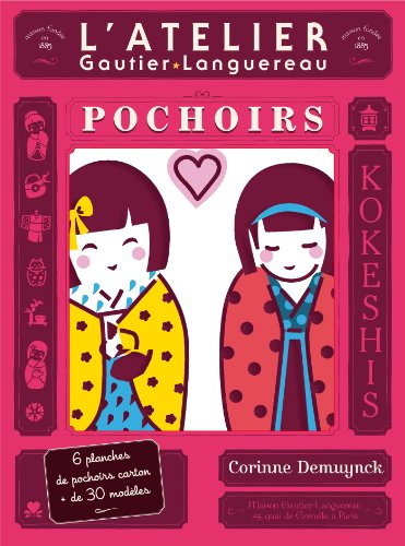 9782013942485: L'atelier pochoirs kokeshis