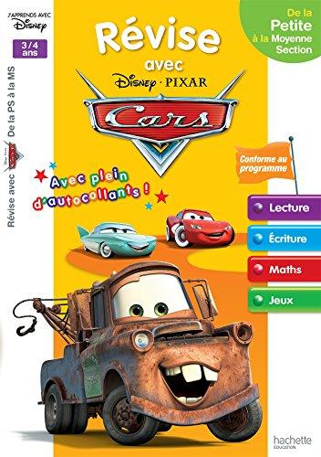 9782013950473: Révise avec Cars De la PS à la MS - Cahier de vacances