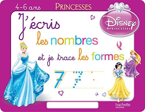 9782013950565: J'ecris les nombres et je trace les formes avec les princesses - ardoise