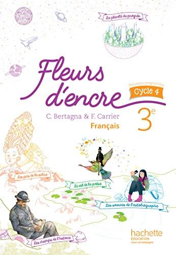 9782013953290: Fleurs d'encre français cycle 4 / 3e - Livre élève - éd. 2016
