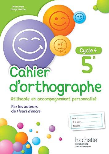 9782013953368: Cahier d'orthographe cycle 4 / 5e - éd. 2016