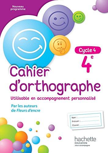 9782013953375: Cahier d'orthographe cycle 4 / 4e - éd. 2016 (Cahiers d'orthographe (Bertagna, Carrier))