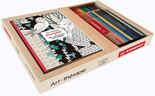 9782013969048: Coffret Art-th�rapie Fantasy: 100 coloriages anti-stress