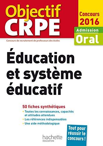 9782014005165: CRPE en fiches : Éducation et système éducatif - 2016 (Objectif CRPE)