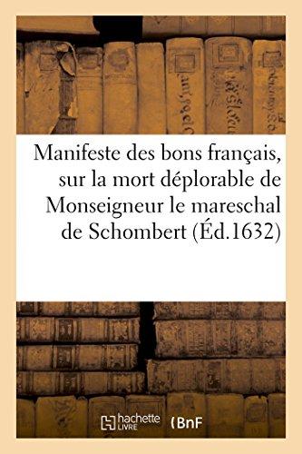 Manifeste Des Bons Francais, Sur La Mort: Sans Auteur