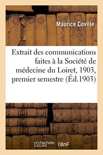 Extrait Des Communications Faites a la Societe: Coville-M