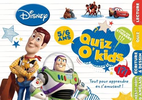9782014601367: quiz o kids 5/6 ans garcon pixar