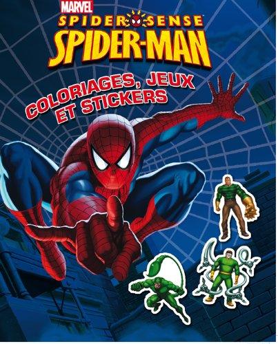 Spider-man ; coloriages, jeux et stickers