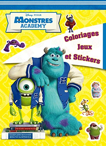 9782014643824: Monstres Academy : Coloriages, jeux et stickers