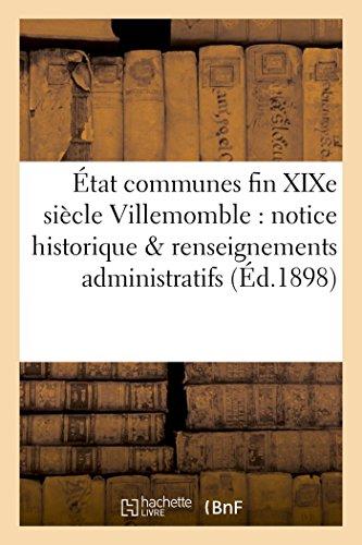 tat des communes fin XIXe sicle Villemomble: Bournon, Fernand