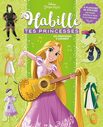 RAIPONCE - Habille tes princesses - cahier: The Disney Artists