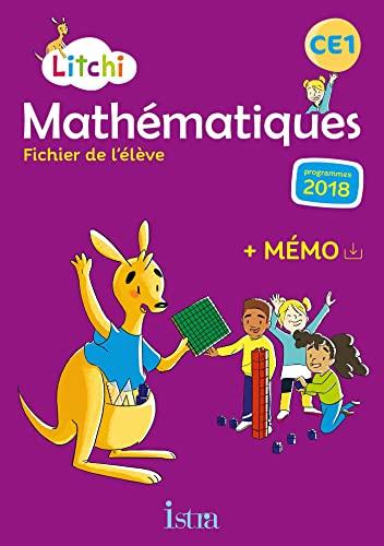 9782017009429: Litchi Mathématiques CE1 - Fichier élève - Ed. 2019