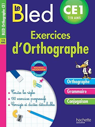 9782017012238: Cahier Bled - Exercices D'Orthographe Ce1