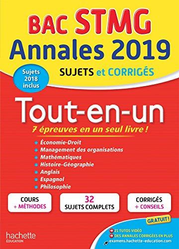 9782017014294: Annales Bac 2019 Tout-en-un Tle STMG