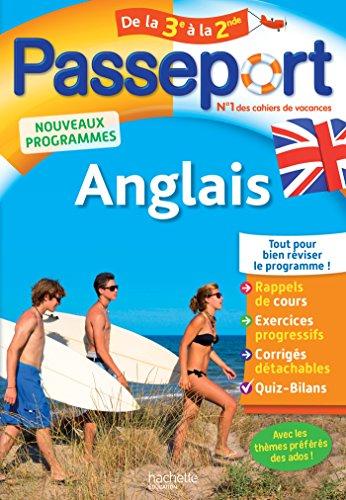 9782017016366: Passeport - Anglais de la 3e à la 2de - Cahier de vacances