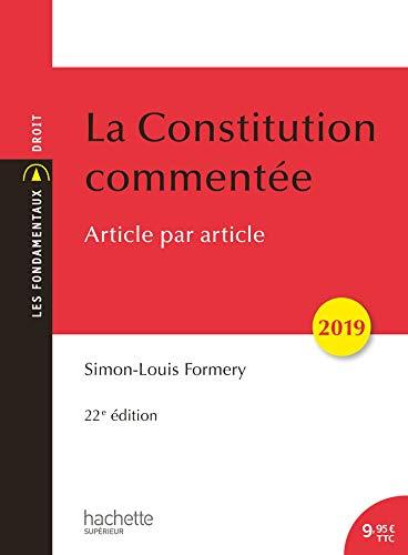 9782017025795: La Constitution commentée 2019