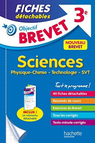 9782017082088: Objectif Brevet 3e - Fiches détachables Physique-Chimie-SVT-Technologie + Dépliant