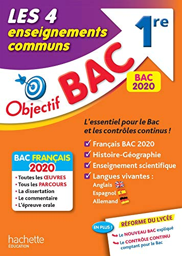 9782017082958: Objectif Bac 1re Enseignements communs BAC 2020