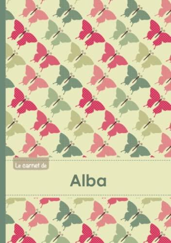 9782017500087: Le carnet d'Alba - Lignes, 96p, A5 - Papillons Vintage
