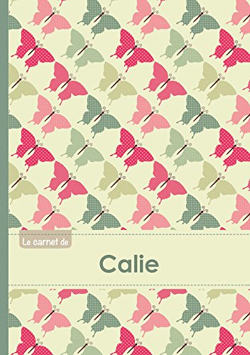 9782017500742: Le carnet de Calie - Lignes, 96p, A5 - Papillons Vintage (Adulte)