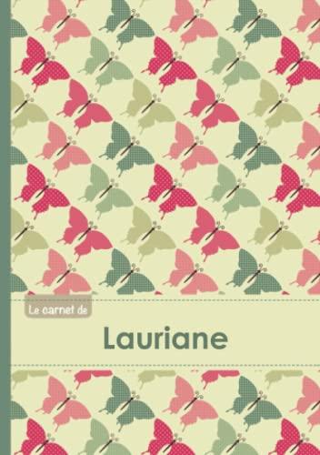 CARNET LAURIANE LIGNES,96P,A5 PAPILLONS (Adulte): Collectif