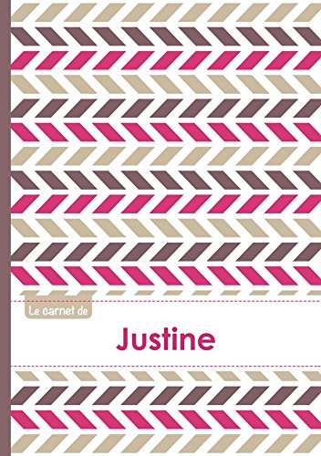 9782017560142: Le carnet de Justine - Lignes, 96p, A5 - Motifs Violet Gris Taupe