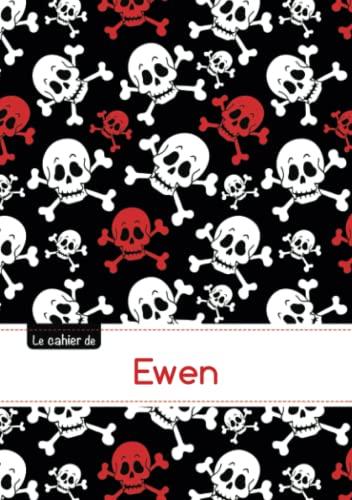 9782017606734: Le carnet d'Ewen - Petits carreaux, 96p, A5 - Têtes de mort (Enfant)
