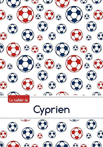 9782017793298: Le cahier de Cyprien - Blanc, 96p, A5 - Football Paris (Enfant)