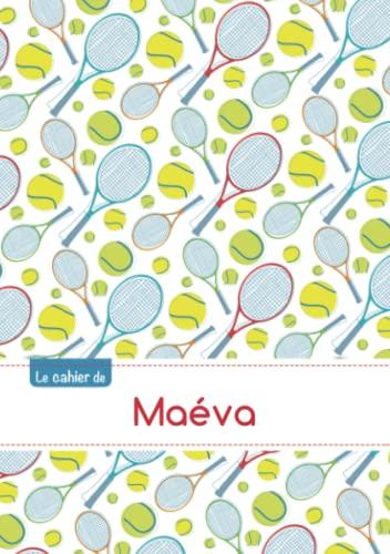 CAHIER MAEVA SEYES,96P,A5 TENNIS: Collectif