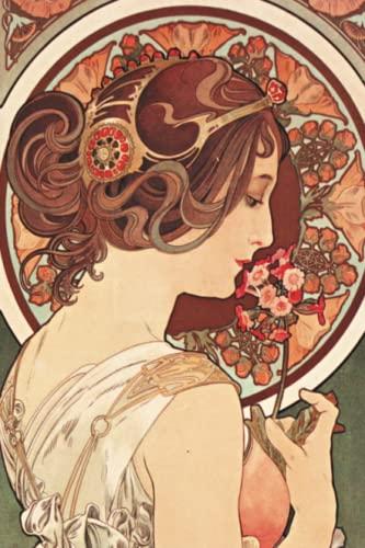 9782019119515: Carnet Ligné Affiche Mucha, La Primevère (Bnf Portraits) (French Edition)