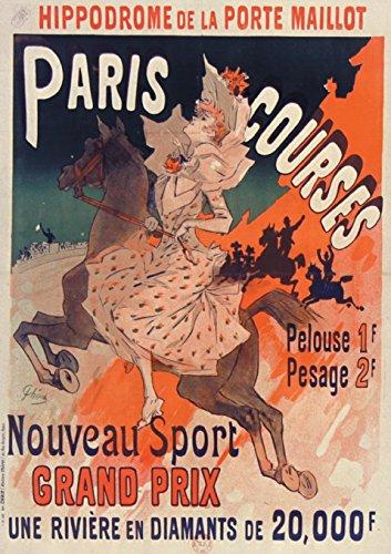 Carnet Ligne Affiche Hippodrome Porte Maillot Paris: Cheret, Jules