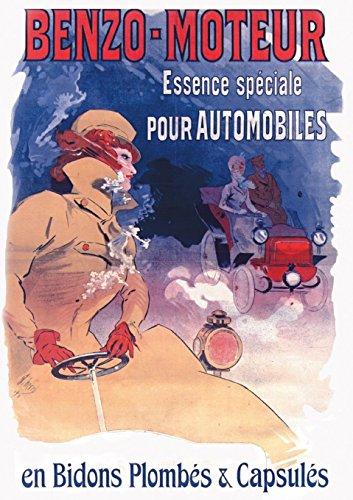 Carnet Ligne Affiche Benzo Essence Automobiles (Bnf: Cheret, Jules