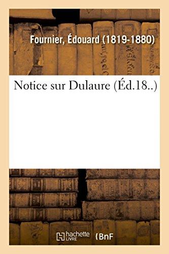 Notice Sur Dulaure: Fournier, Edouard