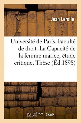 Universite de Paris. Faculte de Droit. La: Lerolle-J