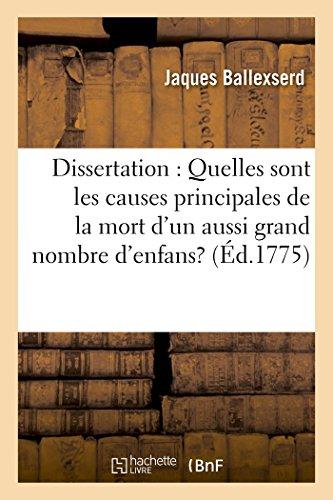 Dissertation: Quelles Sont Les Causes Principales de: Ballexserd-J