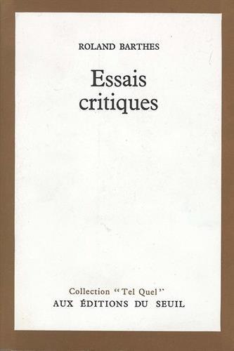 9782020019231: Essais critiques