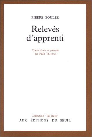 9782020019309: RELEVES D'APPRENTI