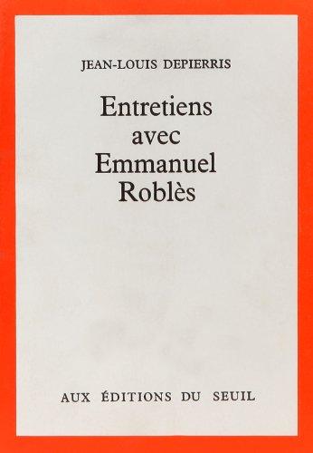 9782020020114: Entretiens avec Emmanuel Roblès