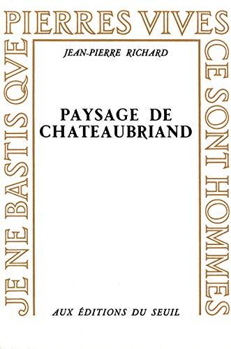 9782020026116: Paysage de Chateaubriand (Pierres vives)