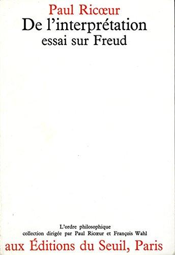 9782020027281: De l'interprétation : Essai sur Freud