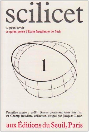 Scilicet, numéro 1: Ecole freudienne de Paris