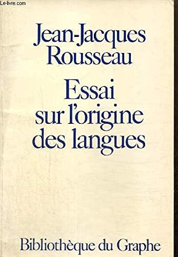 9782020037723: Essai sur l'origine des langues