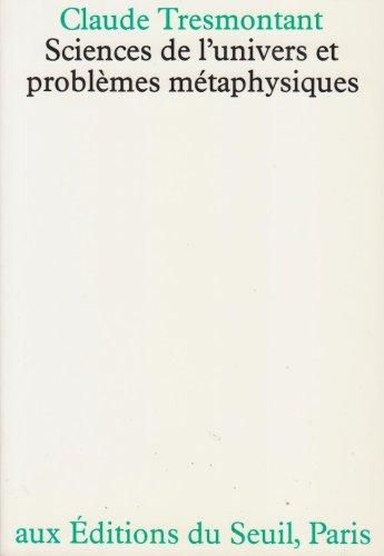 9782020043922: Sciences de l'univers et problèmes métaphysiques