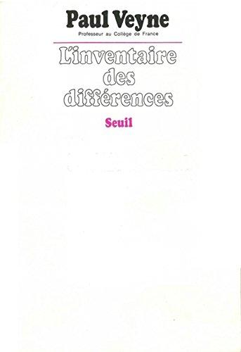 9782020045087: L'inventaire des différences (Essais)
