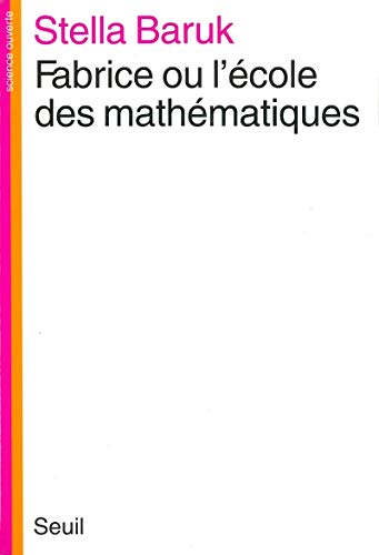 9782020047289: Fabrice ou l'École des mathématiques