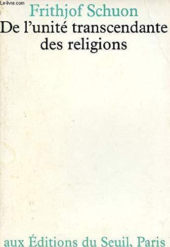 9782020050593: De l'unité transcendante des religions