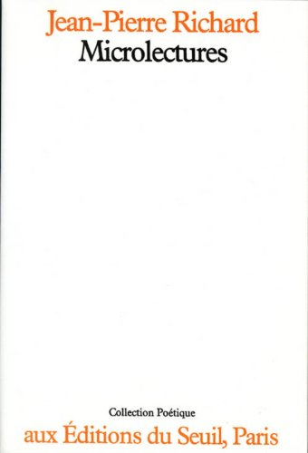 9782020050913: Microlectures (Poétique)